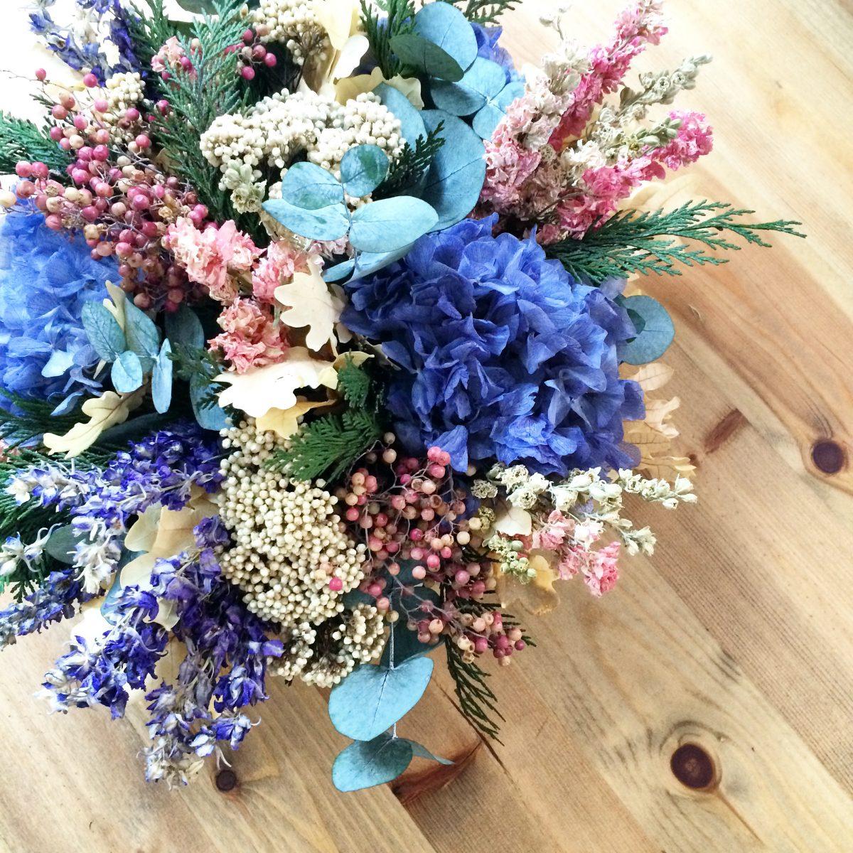 Flores secas para arranjos duradouros