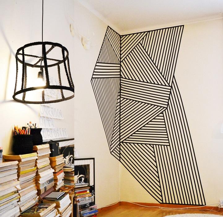 Ideias de decoração com fita adesiva