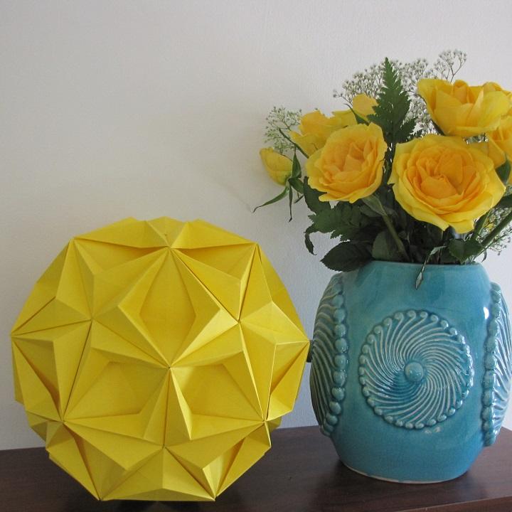 decoração estilo origami
