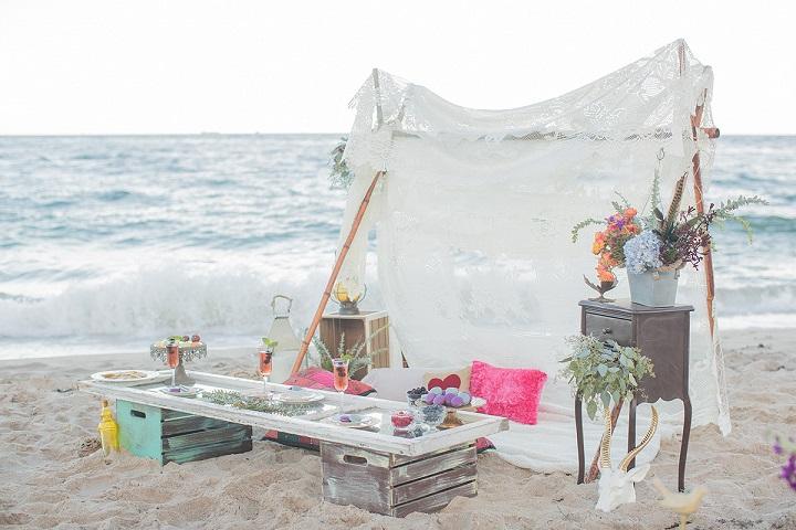 Praia decoração
