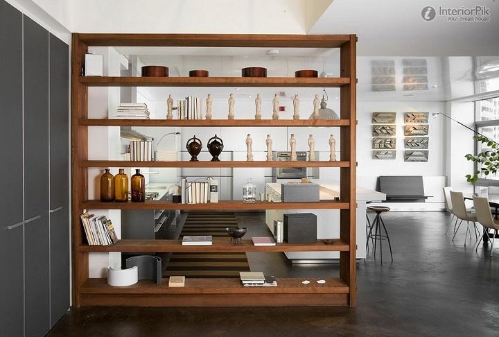 Salas: Utilizar estantes como divisórias