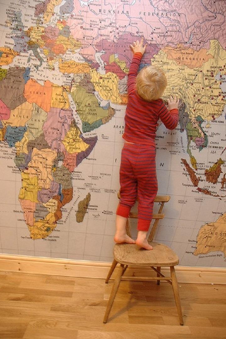 mapa mundo crianças
