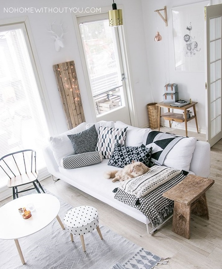 Get the look: sala de estar acolhedora e urbana