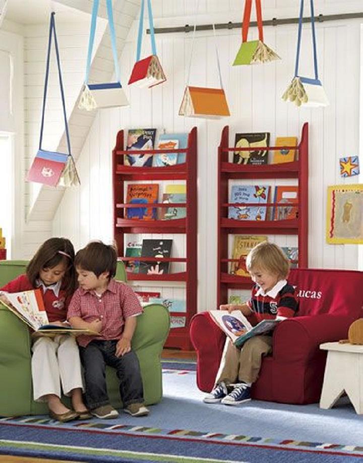 espaço de leitura crianças