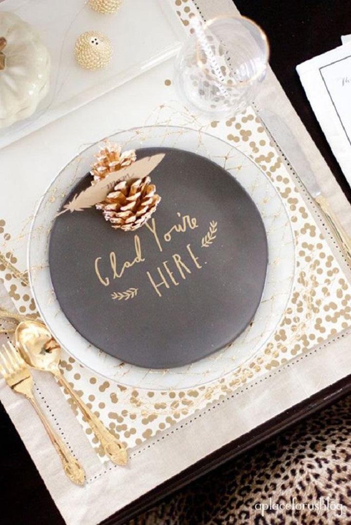 decoração mesa reveillon