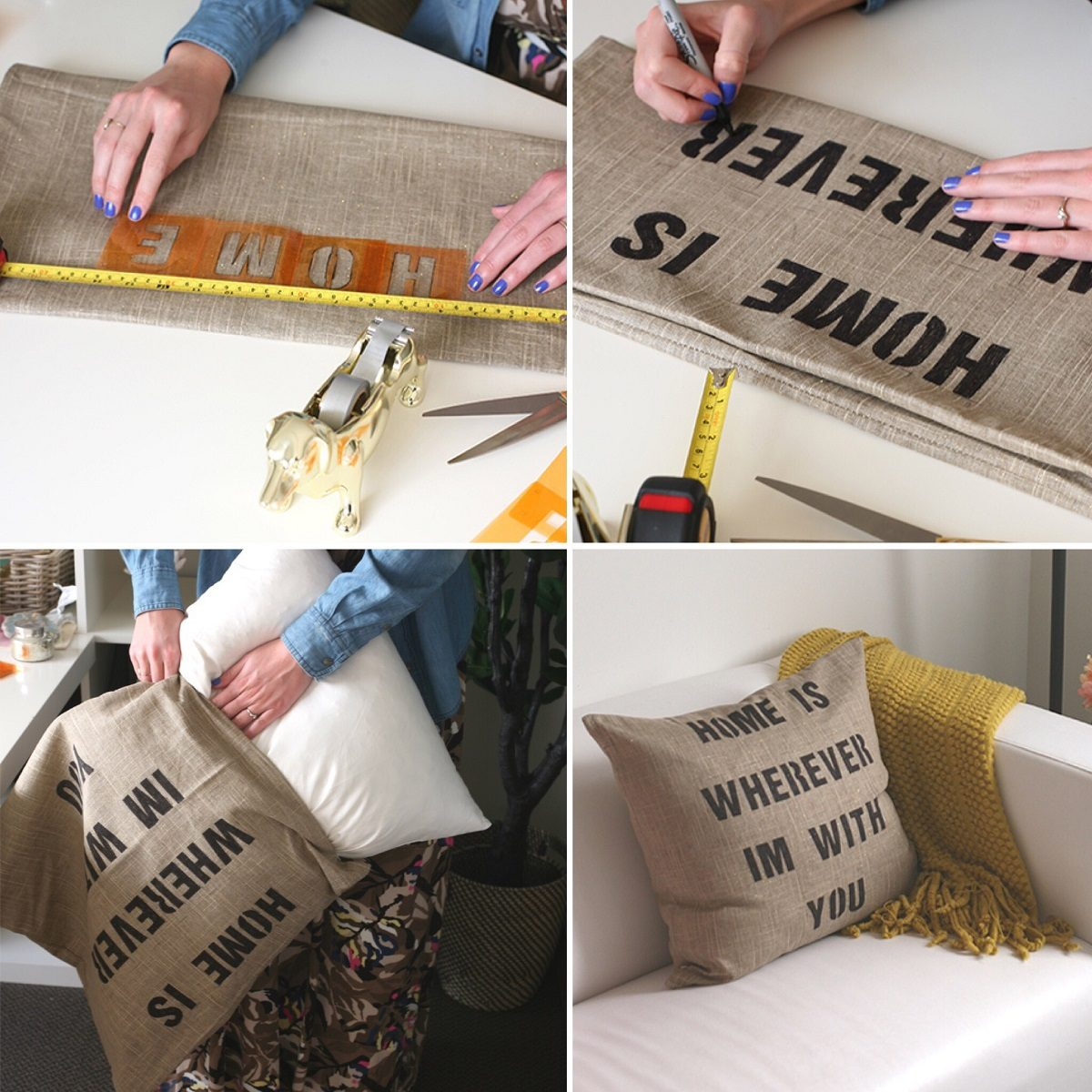 Ideias com 'h' #3: Quote Pillow